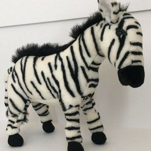 VINTAGE SKM Zebra Black & White  STUFFED ANIMAL